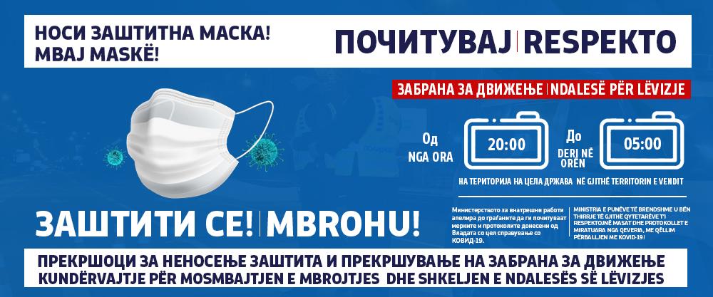 62 прекршувања на забраната за движење, 482 санкции за неносење маска (Видео)